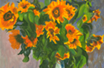 Sunflowers After Monet